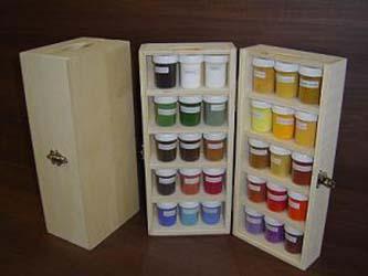 Staande pigmentkoffer